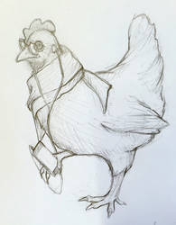 Hipster hen