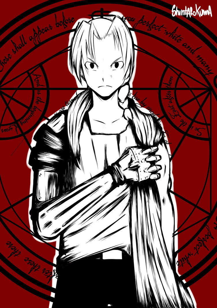 edward elric red version by RyanOla