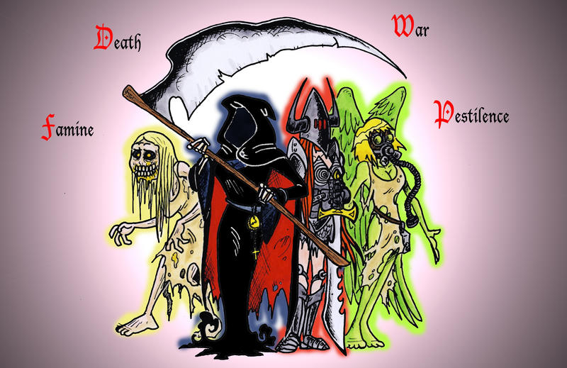 4 Horsewomen of the Apocalypse by Boredman