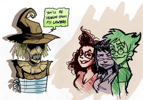 The Trio and the Scarecrow