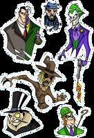 Gotham faces by Boredman