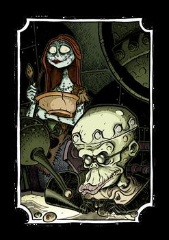 Halloween Town - Sally and Dr.Finkelstein by Boredman