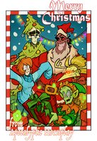 Apocalyptic Horseplay - CHRISTMAS CARD by Boredman