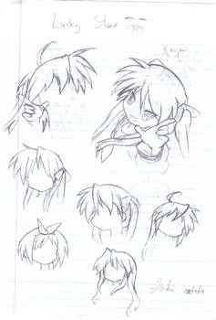 LuckyStar Sketch dump pg 1