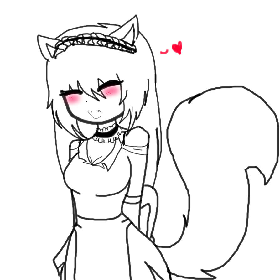 little kitsune maid by Invaderdaniela