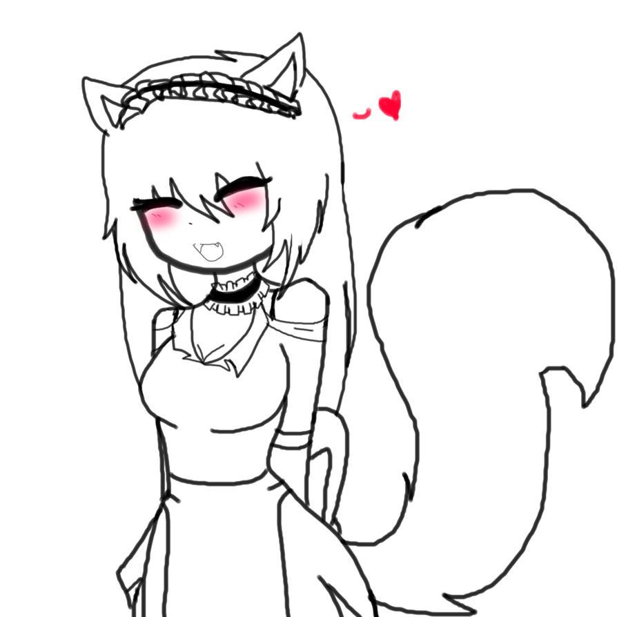 little kitsune maid by Invaderdaniela