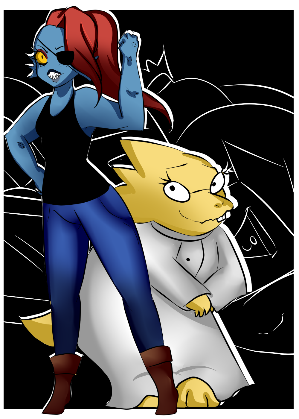 undertale alphys and undyne - photo #11