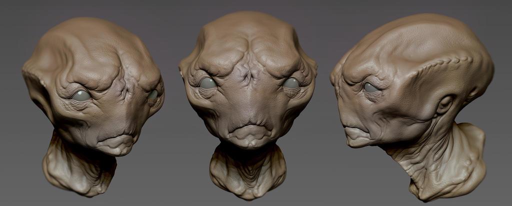 alien head by jips3d