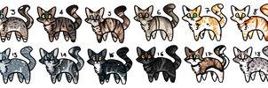 Feline Adoptables 4 [#13 is open!] by Chintzy-Adopts