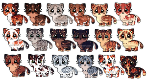 Cute Kitten Adopts 4 [OPEN] by Chintzy-Adopts