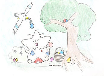 Pokemon Easter by JediAmara