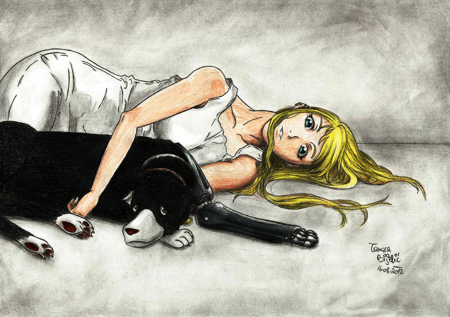 Winry and Den by TamiiBe
