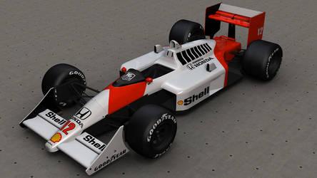McLaren Honda MP4-4 Render by LordZargon