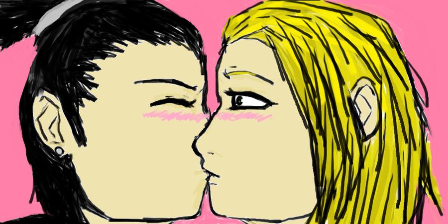 Shikamaru and Temari kiss by Shadlay on DeviantArt