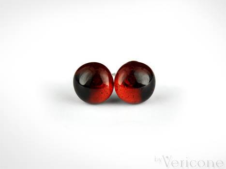 Brown Glass Stud Earrings