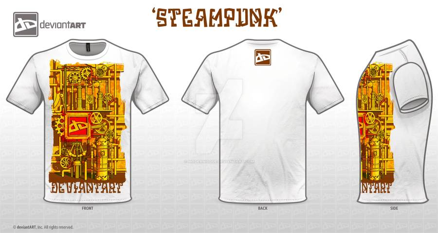 Steampunk DA in White by Modernisque
