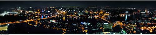 Panorama Cairo City at Night by KINGTEAM