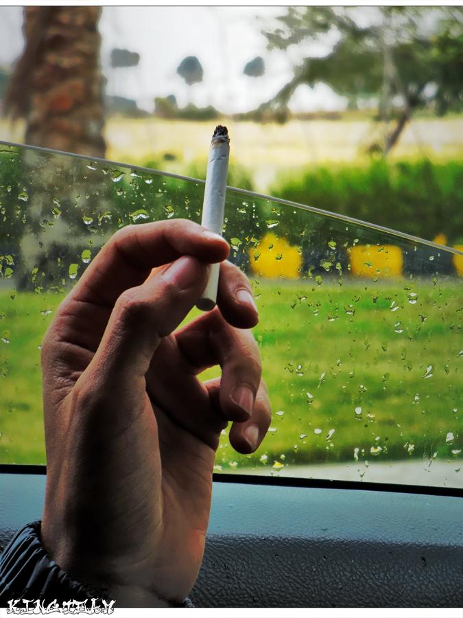Smoking under the Rain by KINGTEAM on DeviantArt