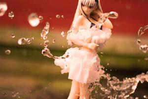 Hayane Fubuki White Bikini figure with splash