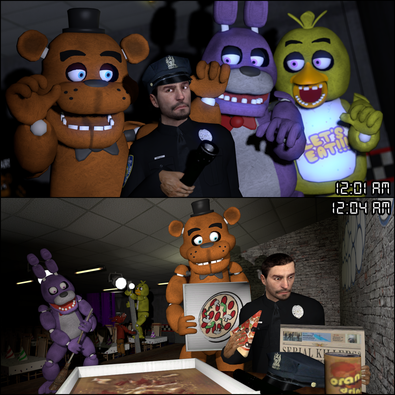 Gmod coloring pages - Five Nights At Freddy S By Dbuilder Five Nights At Freddy S By Dbuilder