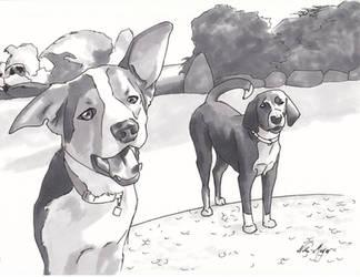 Fergus And Tigger 2 by EndlessDiamondSky