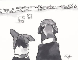 Fergus And Tigger by EndlessDiamondSky