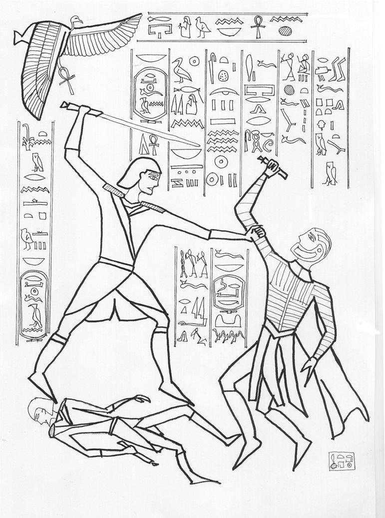 The gallery for --> Egyptian Wall Art Drawing
