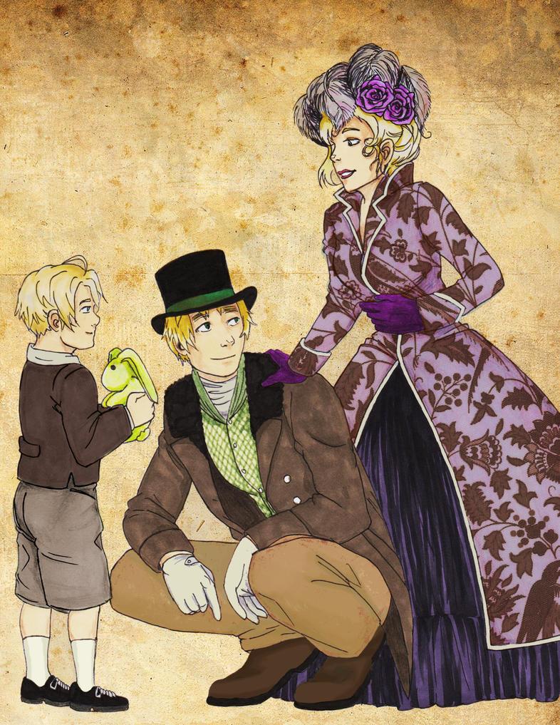 Victorian Family Scene by BlumeShullman