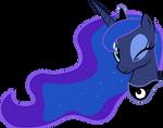 Luna winking