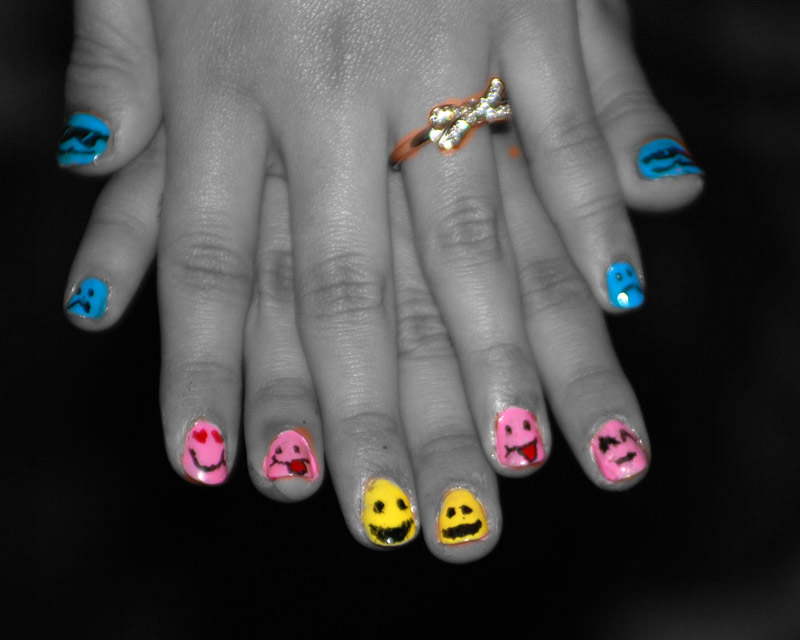 cute and easy designs for nails. Cute Smiley Nails Choreographic Color – photo color fashion dance Nails designs
