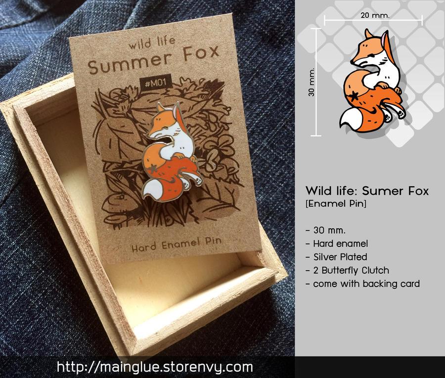Summer Fox [Enamel Pin] by tama-lynn