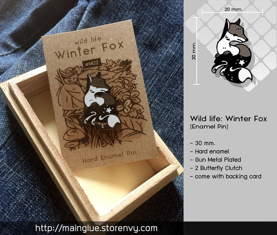 Winter Fox [Enamel Pin] by tama-lynn