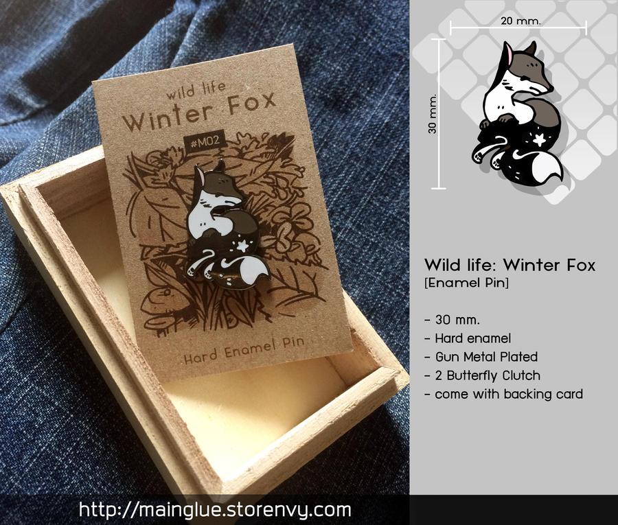 Winter Fox [Enamel Pin] by tama-lynn