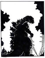 Godzilla 1954 by starvingzombie