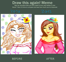 Before after meme - My first Tegaki