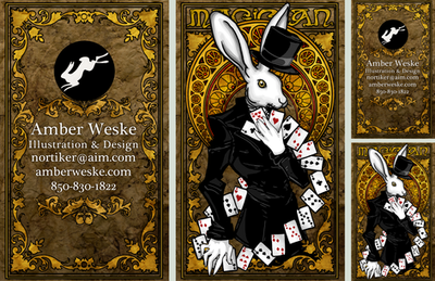 Rabbit Tarot Business Card by Nortiker