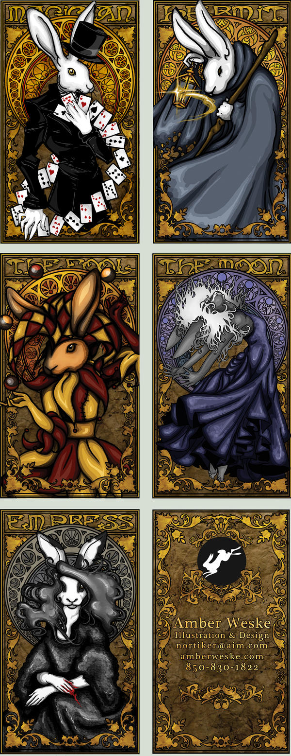 Rabbit Tarot Business Cards by Nortiker on DeviantArt