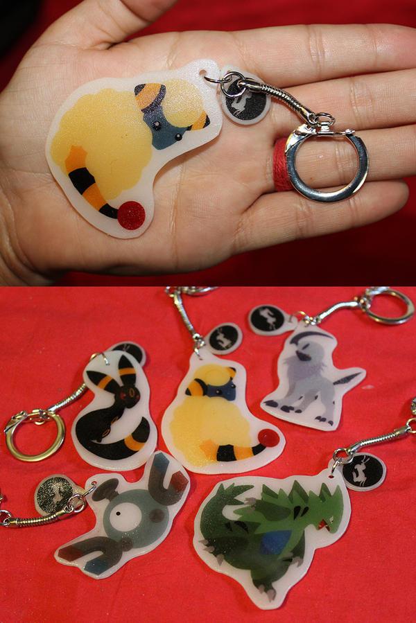 Plastic Pokemon Keychains by Nortiker