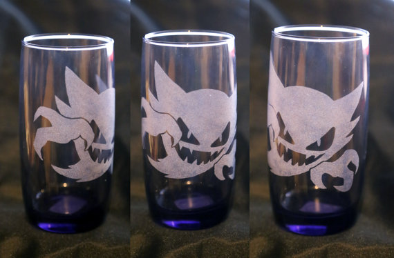 -Etsy- Purple Laser Engraved Haunter Glass by Nortiker