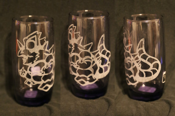 -Etsy- Purple Laser Engraved Nidoking Glass by Nortiker