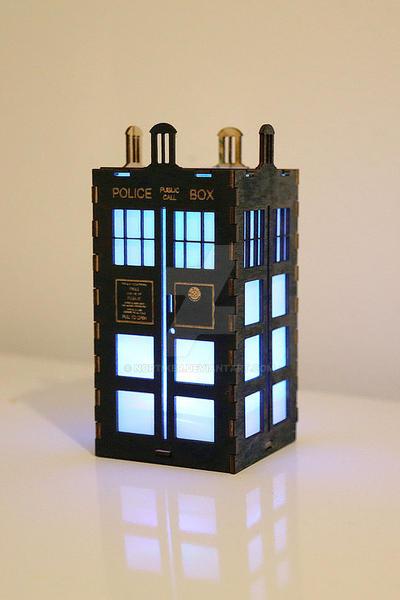 Tiny Tardis Lantern by Nortiker