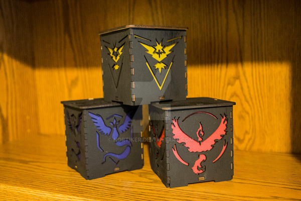 Team Instinct, Mystic and Valor Japanese Lanterns by Nortiker