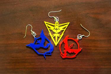 Pokemon Go - Team Valor/Instinct/Mystic Earrings