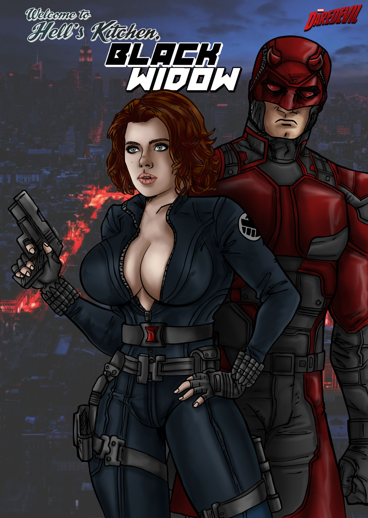 Black Widow and Daredevil by Electric-Eccentric on DeviantArt