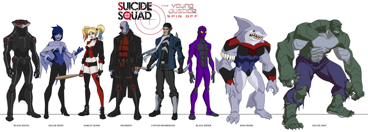 Young Justice Style - Suicide Squad by dark-BuB