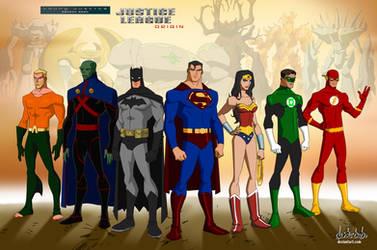 Young Justice Justice League Original Team members