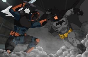 Batman vs Deathstroke - Young Justice style by dark-BuB
