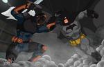 Batman vs Deathstroke - Young Justice style