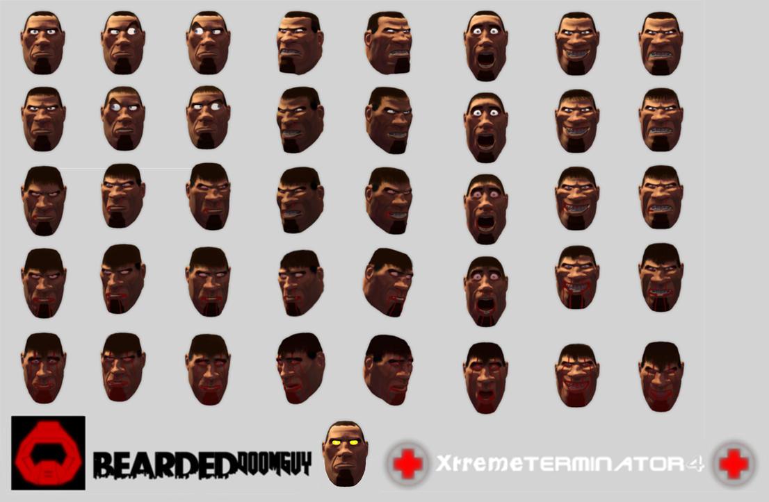 Status bar face BEARDEDDooMguy by XtremeTerminator4