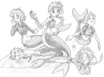 Mermaid by Tselsebar